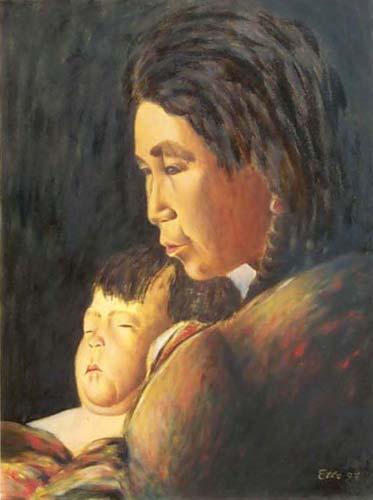 Donna con bambino